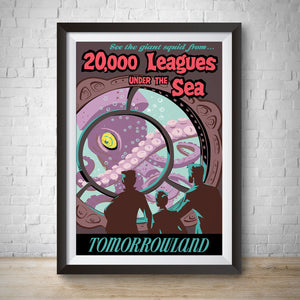 20000 Leagues Under the Sea - Tomorrowland - Vintage Attraction Poster