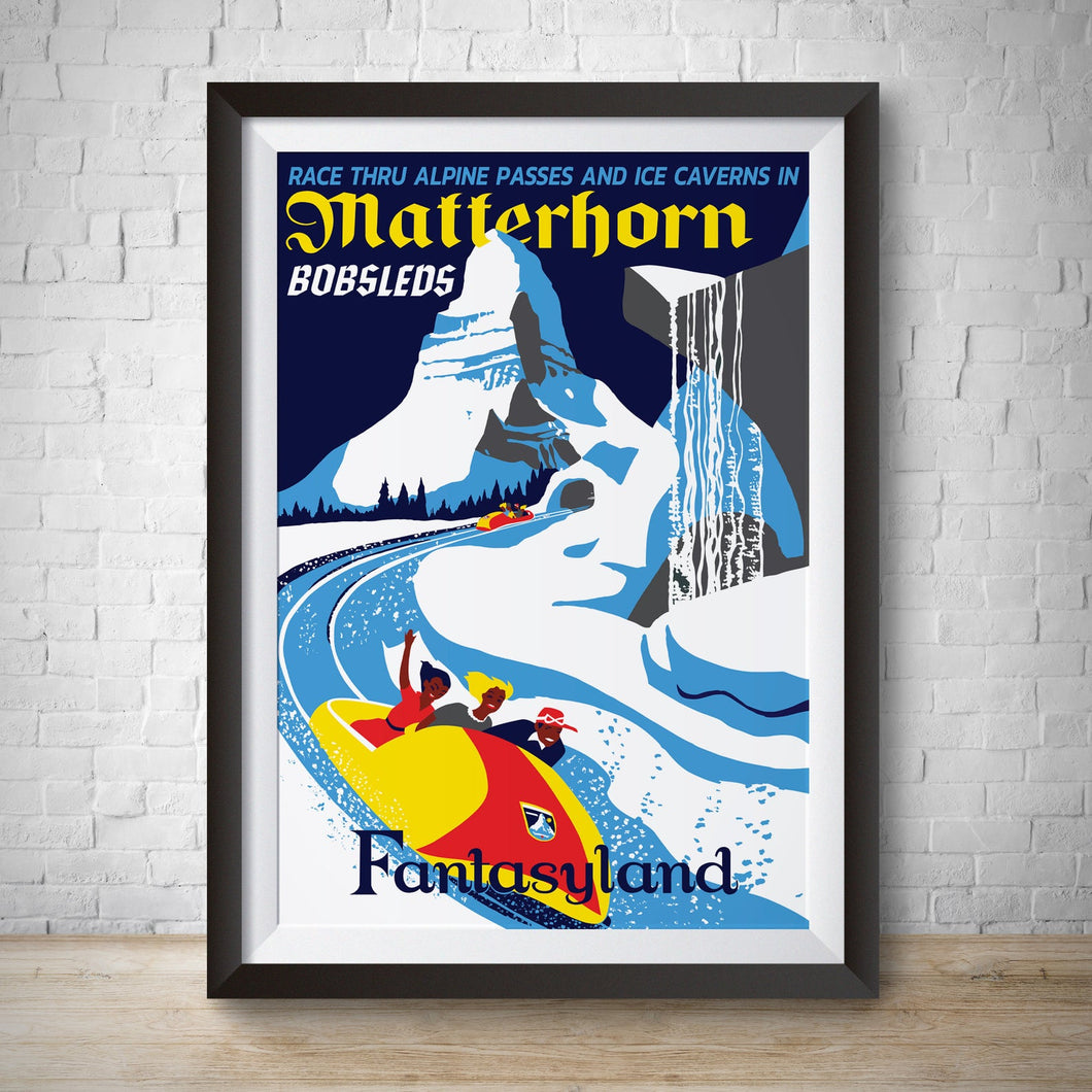 Matterhorn - Vintage Fantasyland Attraction Poster