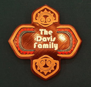 Personalized Polynesian Themed Family Last Name Sign / Plaque