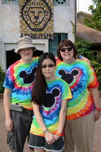 Load image into Gallery viewer, Magical Mouse Tie-Dye Rainbow Adult Shirts
