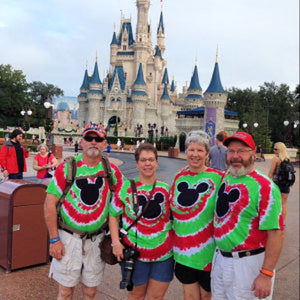Magical Mouse Tie-Dye Christmas Color Adult Shirts
