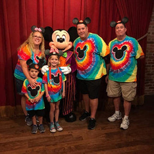Magical Mouse Tie-Dye Rainbow Adult Shirts