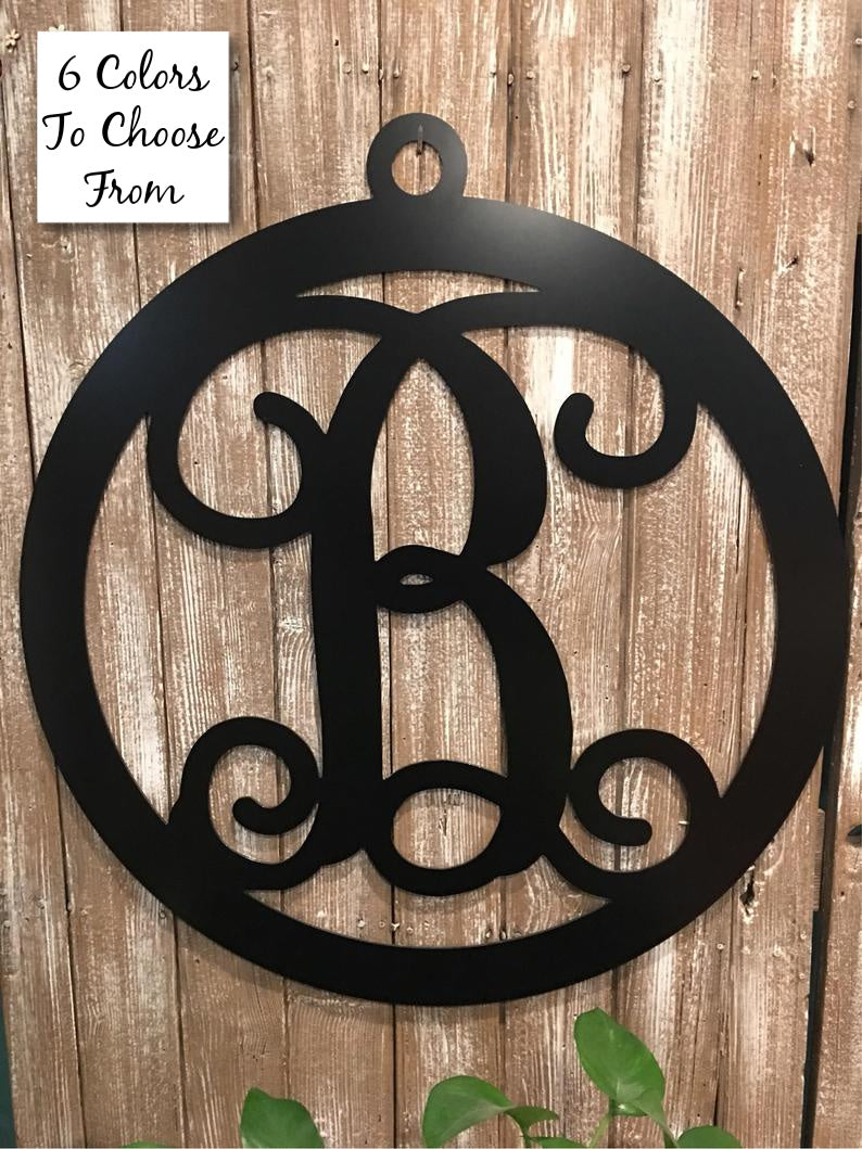 Family Monogram Initial Circle Sign - 18
