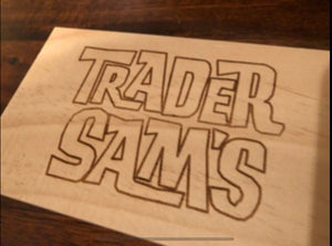 Your Miles to Trader Sam's Personalized Sign