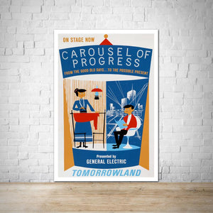 Carousel of Progress - Tomorrowland Vintage Attraction Poster