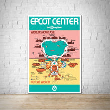Load image into Gallery viewer, 1982 - Vintage Epcot Park Map Poster Print - Disney World