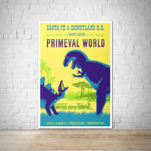 Load image into Gallery viewer, Primeval World Vintage Disneyland Attraction Poster