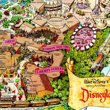 Load image into Gallery viewer, Original Vintage Disneyland Park Concept Map