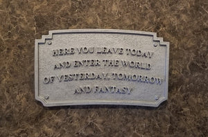 DL Main Street Entranceway Welcome Plaque - Antique Hammered Metal Look