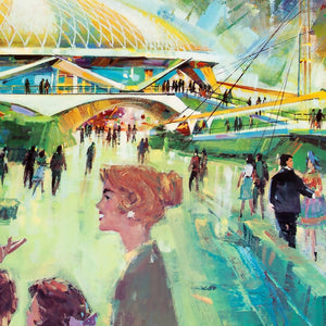 1964 - 1965 Worlds Fair Vintage Attraction Poster
