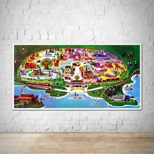 Vintage Magic Kingdom Concept Map