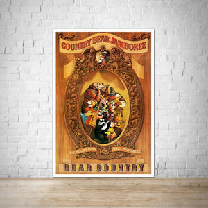 Country Bear Jamboree - Vintage Attraction Poster