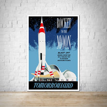 Load image into Gallery viewer, Rocket to the Moon - Vintage Tomorrowland Attraction Poster