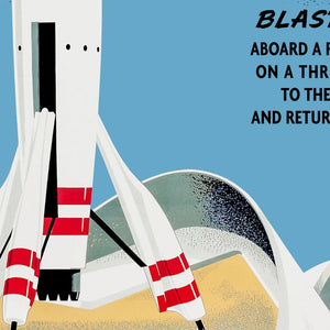 Rocket to the Moon - Vintage Tomorrowland Attraction Poster