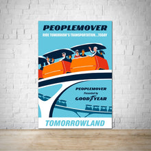 Load image into Gallery viewer, Peoplemover - Tomorrowland Vintage Attraction Poster