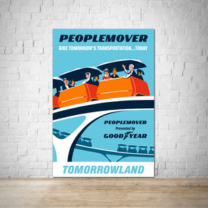Peoplemover - Tomorrowland Vintage Attraction Poster