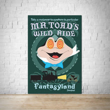 Load image into Gallery viewer, Mr Toads Wild Ride - Vintage Disneyland Attraction Poster