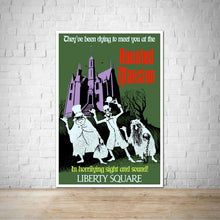 Load image into Gallery viewer, WDW Haunted Mansion Vintage Attraction Poster - Liberty Square
