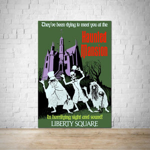 WDW Haunted Mansion Vintage Attraction Poster - Liberty Square