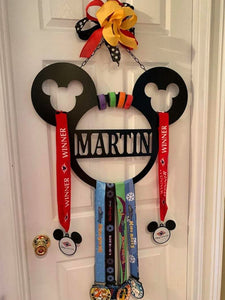 "Large 24"" Personalized Multiple Circle, Lanyard, Medal or Wrist Band Holder"