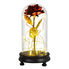 Load image into Gallery viewer, Enchanted Eternal Galaxy Rose - LED Light - Flower In Glass Dome