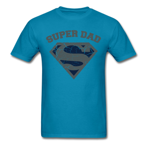 Super Dad Shirt - turquoise
