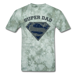 Super Dad Shirt - military green tie dye