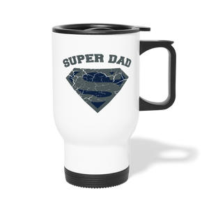Super Dad Travel Mug - white
