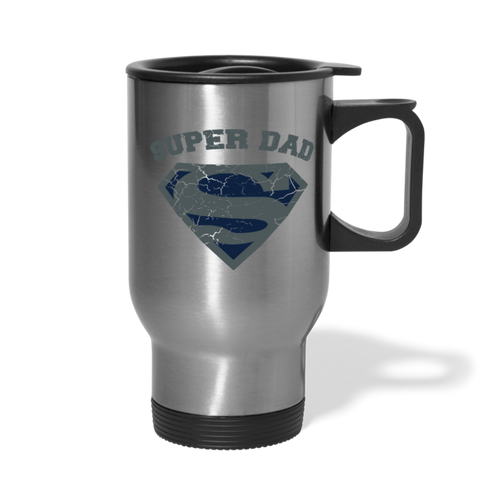 Super Dad Travel Mug - silver