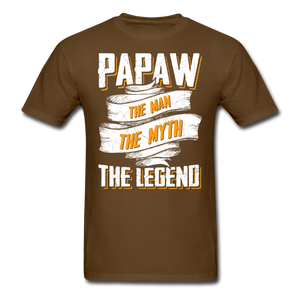 Papaw the Legend T-Shirt - brown