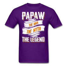 Load image into Gallery viewer, Papaw the Legend T-Shirt - purple