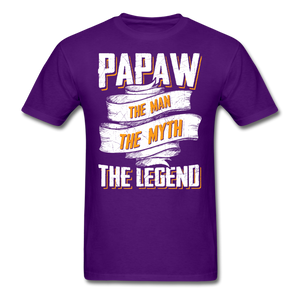 Papaw the Legend T-Shirt - purple