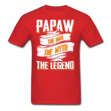Load image into Gallery viewer, Papaw the Legend T-Shirt - red