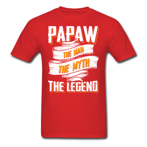 Papaw the Legend T-Shirt - red