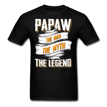 Load image into Gallery viewer, Papaw the Legend T-Shirt - black
