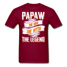Load image into Gallery viewer, Papaw the Legend T-Shirt - burgundy