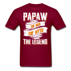 Papaw the Legend T-Shirt - burgundy