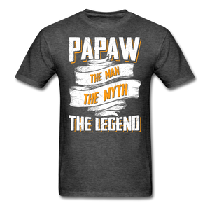 Papaw the Legend T-Shirt - heather black