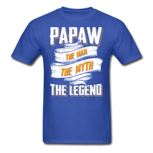 Load image into Gallery viewer, Papaw the Legend T-Shirt - royal blue