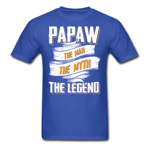 Papaw the Legend T-Shirt - royal blue