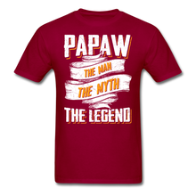 Load image into Gallery viewer, Papaw the Legend T-Shirt - dark red