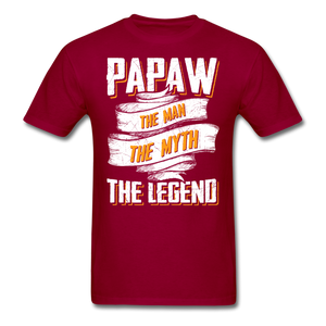 Papaw the Legend T-Shirt - dark red
