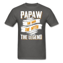 Load image into Gallery viewer, Papaw the Legend T-Shirt - charcoal