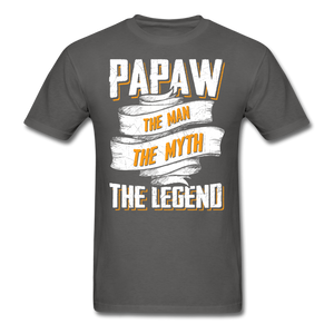Papaw the Legend T-Shirt - charcoal