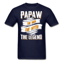 Load image into Gallery viewer, Papaw the Legend T-Shirt - navy