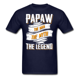Papaw the Legend T-Shirt - navy