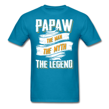Load image into Gallery viewer, Papaw the Legend T-Shirt - turquoise