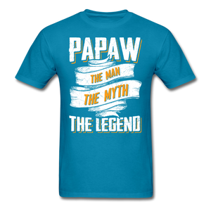 Papaw the Legend T-Shirt - turquoise
