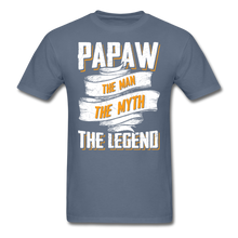 Load image into Gallery viewer, Papaw the Legend T-Shirt - denim