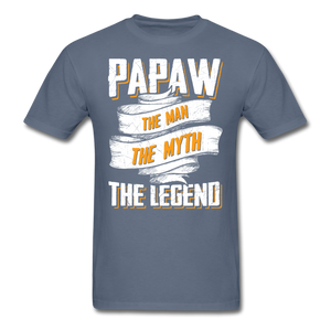 Papaw the Legend T-Shirt - denim